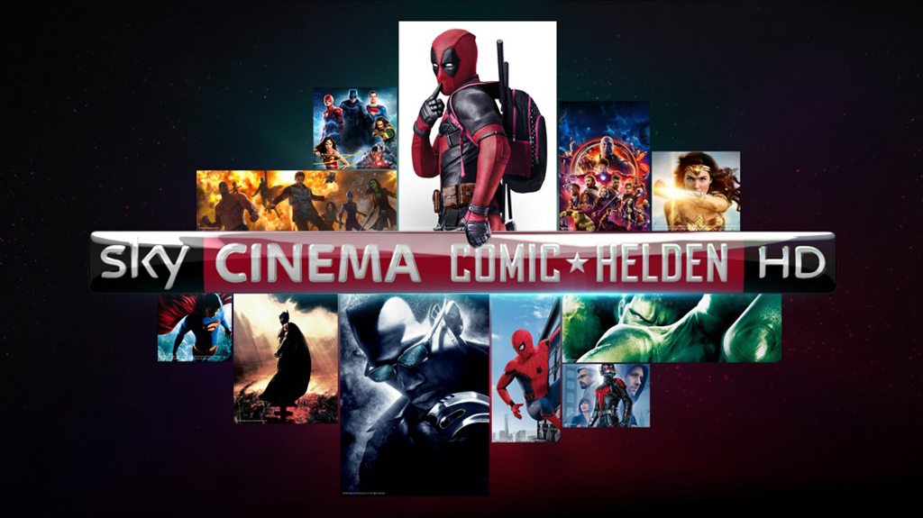 "Pop-up-Sender ""Sky Cinema Comic-Helden HD"""